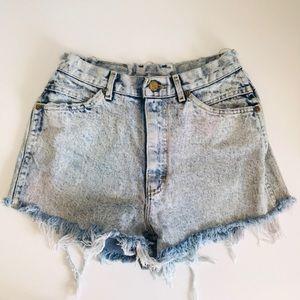 Lee Vintage Acid Wash High Waisted Cutoff Shorts